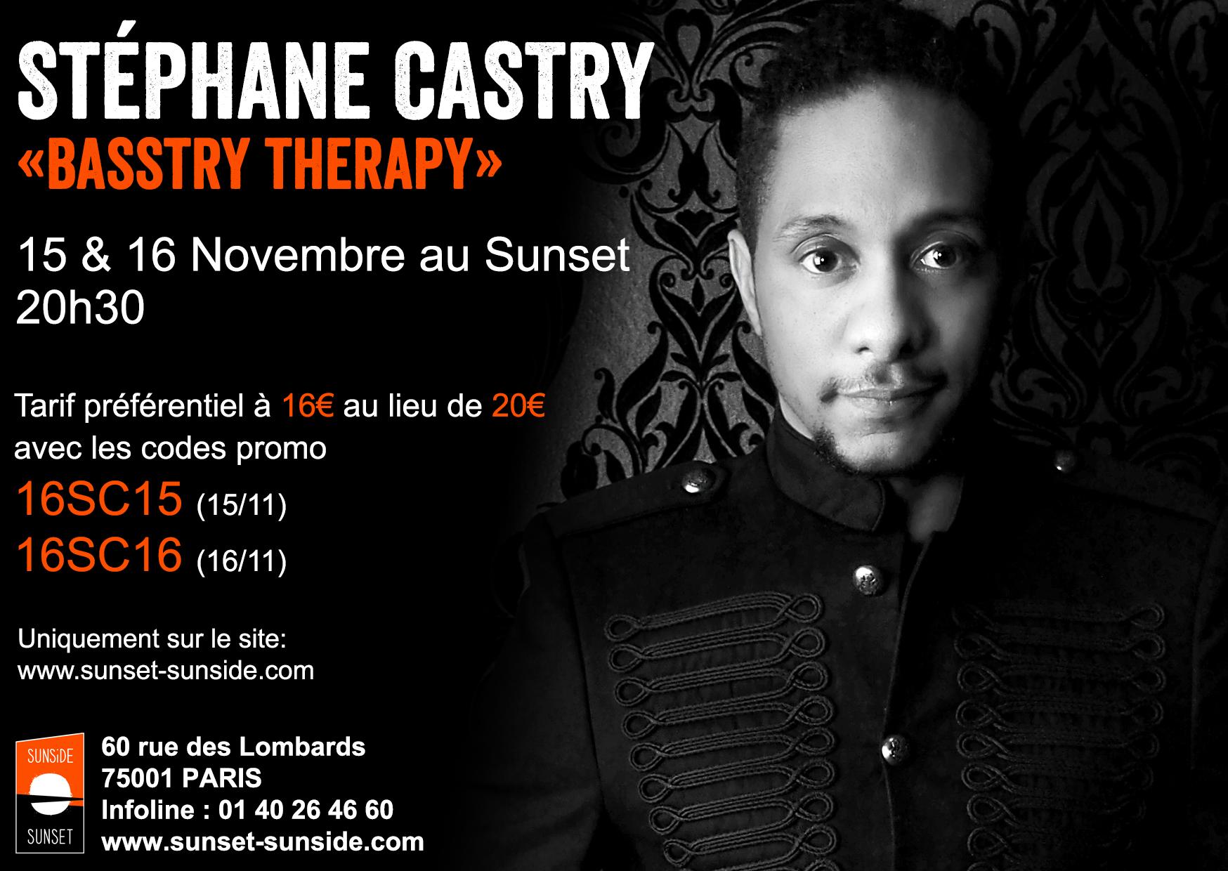 Banniere concert Stephane Castry Sunset 15 et 16 nov 2017