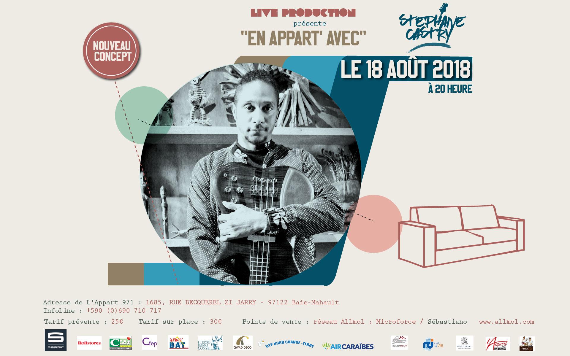Banniere web - Concert En Appart avec Stéphane Castry 18/08/2018