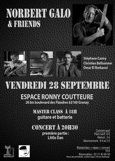 Flyer Concert Norbert Galo and friends avecCastry-28092018