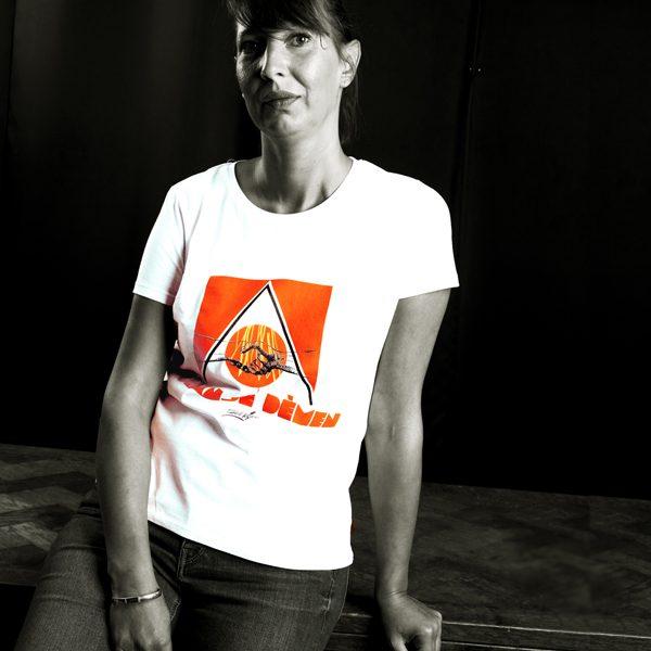Tshirt-demen-woman-orange