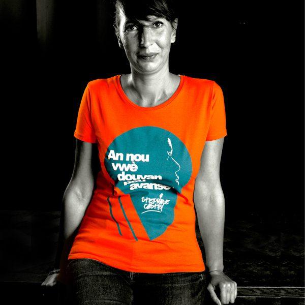 Tshirt-douvan-femme-orange
