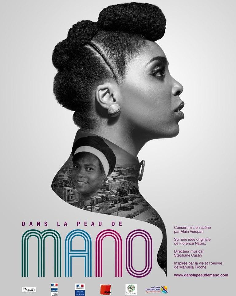 """Affiche spectacle """"Dans la peau de Mano"""" de Florence Naprix. Bal Blomet 22112019"""