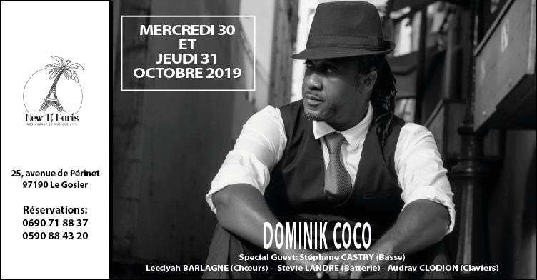 Flyer-Dominique Coco-show-New Ti Paris-guadeloupe-30 and 31 octobre 2019
